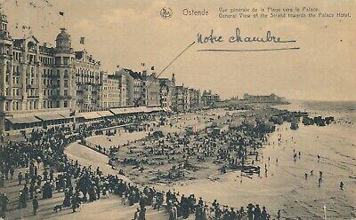CPA - Belgique - Oostende - Ostende - vue générale de la plage vers le Palace