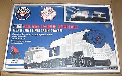 Lionel new 7-12025 Lionel Little Lines New York Yankee train play set baseball