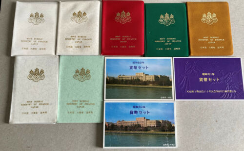 Lot5 JAPAN Coin Sets from Mint 1975,1976,1979 thru 1986  10 sets