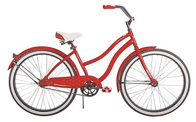 "Huffy 24"" Cranbrook Girls' Cruiser Bike with Perfect Fit Frame, Red"