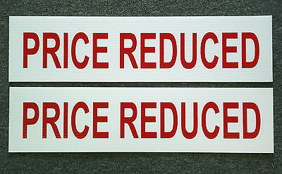 2 Price Reduced 6 X 24 Real Estate Sign Riders 2 Sided Outdoor New Free Ship