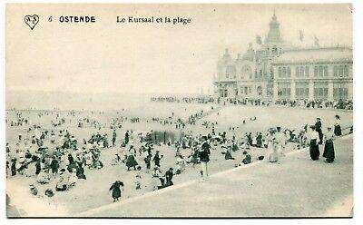 CPA - Carte Postale - Belgique - Ostende - Le Kursaal et la Plage ( CP4882 )