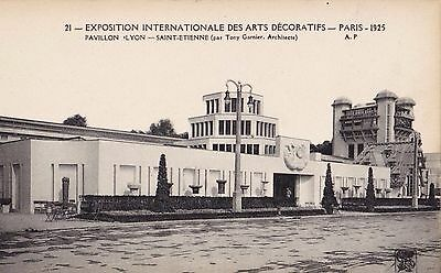 Original 1925 Paris Exposition des Arts Decoratifs Postcard Art Deco GARNIER
