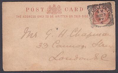 1889 QV Newcastle on Tyne / 6 '4V' Squared Circle Mawson,Swan & Morgan to London