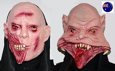Halloween Scary Creepy Face Latex Mask Balaclava Devil Evil Ghost Head Face