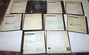 Classic-Rock-Recorded-REEL-TAPES-LOT-of-10-YES-AIRPLANE-DYLAN-PINK-FLOYD-MORE