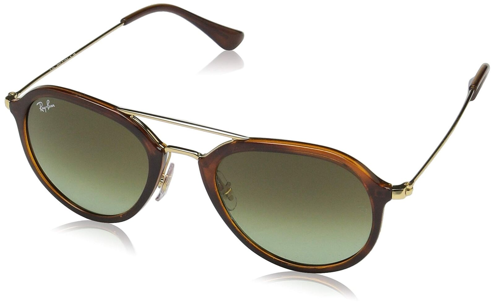 19636f3cae Ray Ban RB4253 820 A6 53MM Gradient Sunglasses Gold Tone Green Tortoise