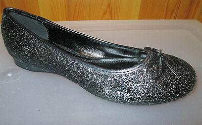 NEW Glitter Ballet Flats Black with Bow  FLATS Size 6 37 Versatile
