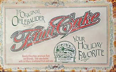 Platte Metall Deko Feinkost Vintage Ohlebauder Fruit Cake - 41 X 26 CM online kaufen