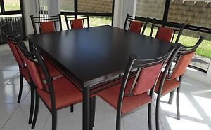 Nine Piece Dining Set with Bar Stools Campbelltown Campbelltown Area Preview