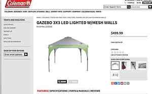 Coleman Gazebo 3x3 Led Lighted with Meshed Wall Cairns Surrounds Preview