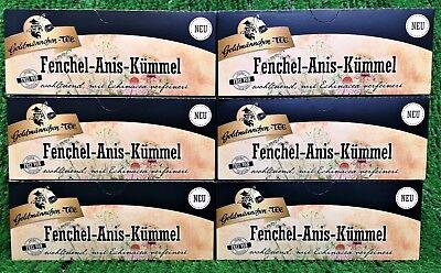 (42,67€/kg) 6x Goldmännchen Tee FENCHEL ANIS KÜMMEL Tee Ostprodukt! Versand 0€