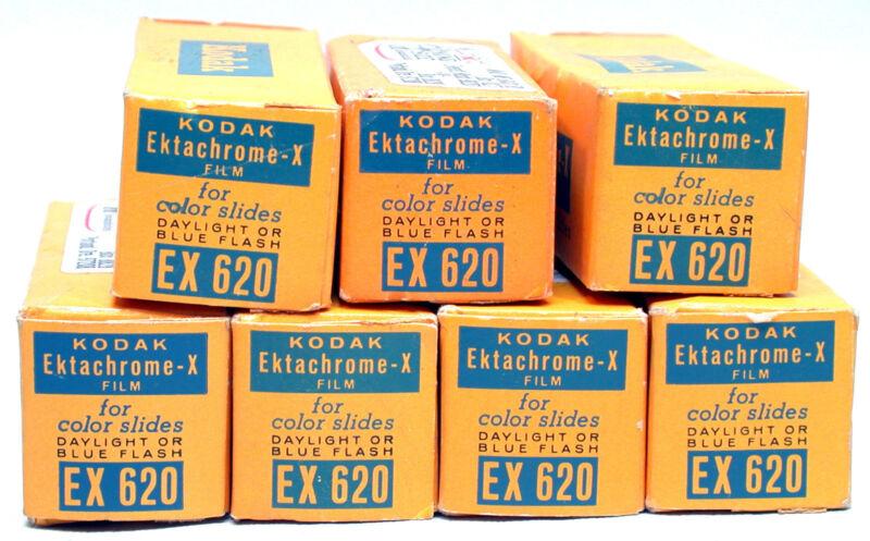 "Kodak Ektachrome X -  EX 620 Color Slide Film - Expired 1966 - 1969 ""7 rolls"""