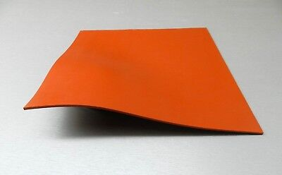 Silicone Rubber Sheet High Temp Solid Redorange Commercial Grade 10x10x18 Sq.