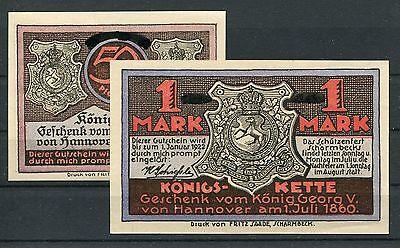 Scharmbeck 50 Pfennig + 1 Mark Serie kompl. ohne zusätzliche Aufdrucke ( III )