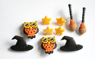 Whoo's Scared? / Jesse James  Halloween  Buttons / Owl ~ Witch Hat & - Jesse Halloween