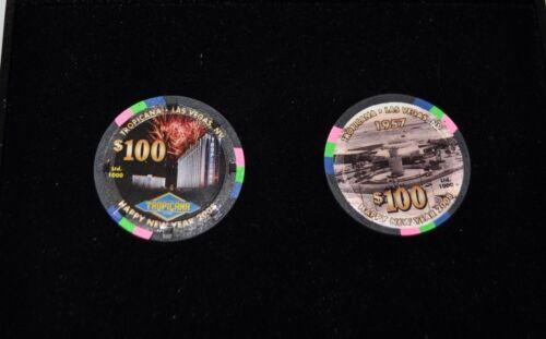 2008 LTD  Tropicana Las Vegas collectable casino chip set in case - uncirculated