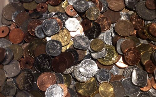 Mixed Bulk Lot of 100 Assorted Foreign World Coins