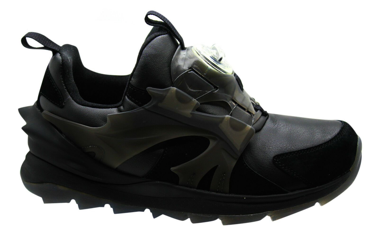 Puma Disc Swift Tech Mens Trainers Black Slip On Casual