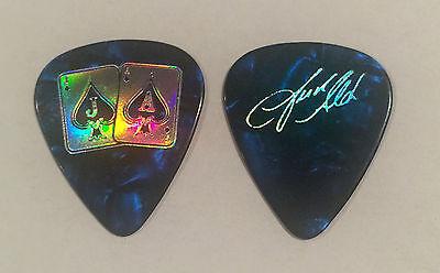 Jason Aldean   Guitar Pick Blue Pearl Gold 2015 Tour Jacks   Aces Country