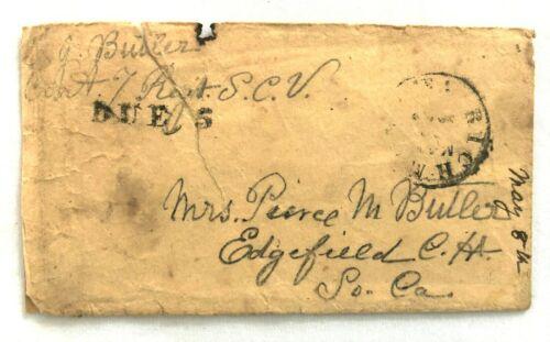 Civil War Confederate South Carolina 7th Regt. SCV Envelope with Handstamp