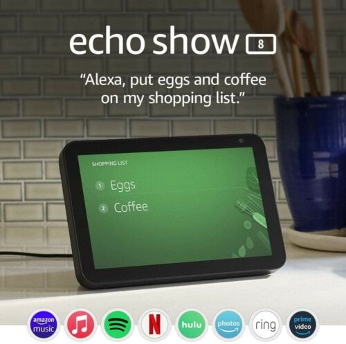 Echo Show 8 -- HD smart display with Alexa –stay connected with video calling