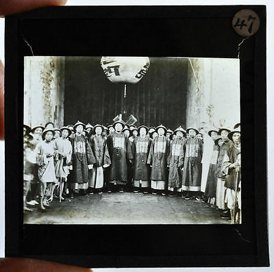 62 ANTIQUE MAGIC LANTERN SLIDE PHOTO CHINA TIBET CHINESE VIEW PEOPLE DRESS 1910