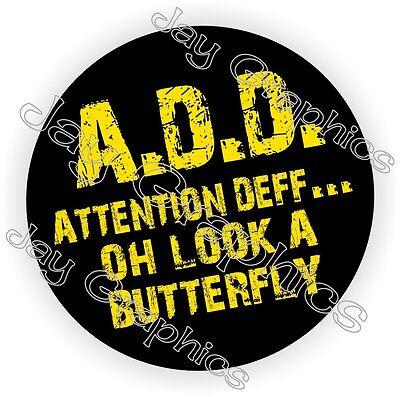 A.d.d. Attention Deff Hard Hat Sticker Decal Label Helmet Construction Add