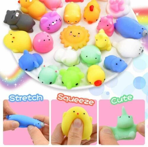 Toys Party Favors for Kids Squishys 25 Pack Mini Mochi Rising fidget Hand Toy