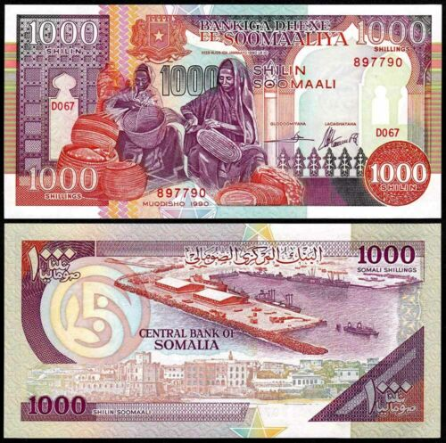 SOMALIA (1990) 1000 Shillings P-37a UNC