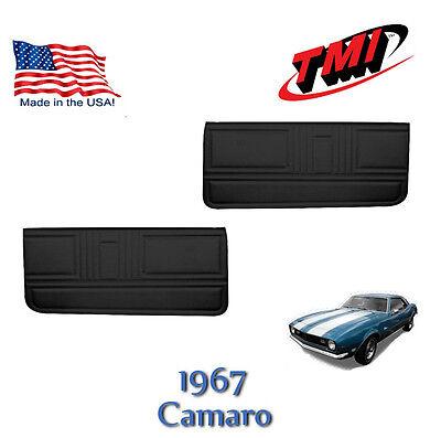 Tmi Front Door Panels (1967 Camaro Black Vinyl Door Panels by TMI - Made in the USA -- In)