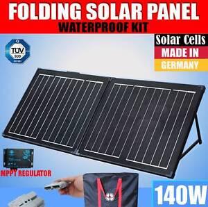 140W Folding Solar Panel Black Silicon MEGAVOLT Mono MPPT Power C Wangara Wanneroo Area Preview