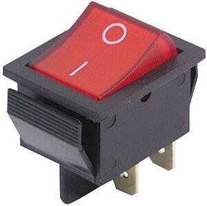 1 X Wippschalter Kippschalter Netzschalter 230V rot beleuchet EIN / AUS 4 polig
