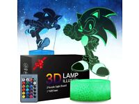 Sonic 3D effect colouring changing light with 2 cut outs and remote - BNIB