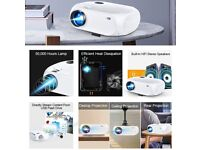 Mini WiFi Projector, 5500 Lux HD Home Video Projector Support 1080P, Compatible with Android/iOS