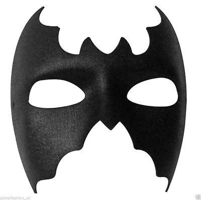 New Ladies Men's Unisex Black Domino Shape Batman Black Cat eye Mask Fancy Dress