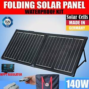 140W Folding Solar Panel Black Silicon MEGAVOLT Mono MPPT Power C Craigie Joondalup Area Preview
