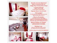 4 Bed Static Caravan for Hire at Happy Days Caravan Park, Towyn, North Wales (sleeps 6-8)
