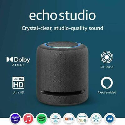Amazon Echo Studio Smart Speaker Alexa HiFi W/ 3D Audio Black NEW