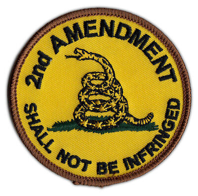 Motorcycle Jacket Embroidered Patch - Gadsden Flag Patch Don't Tread On Me Flag Motorcycle Jacket