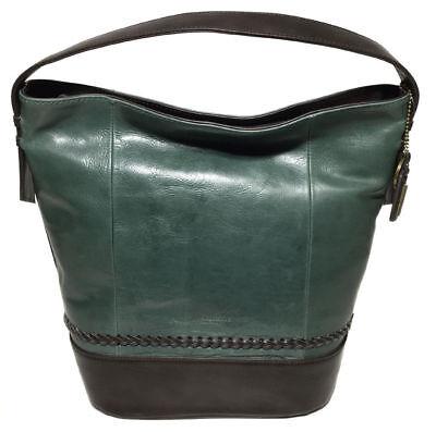 84254afcd9 NWT Tignanello Classic Boho Vintage Leather Bucket Bag, Juniper/Brown MSRP:  $179