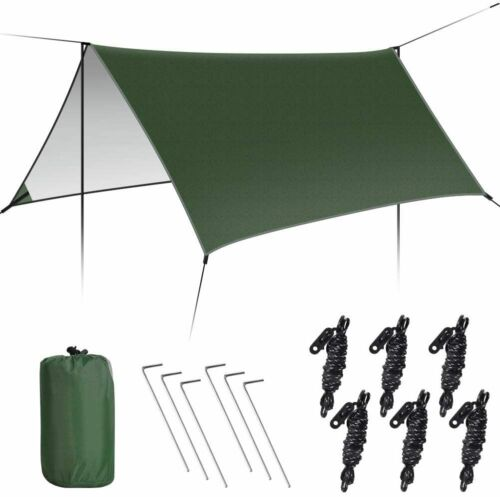 Zeltplane Tarp Sonnensegel Zeltplane Hängematte Tarp UV Schutz Zelt Shelter 3*3M