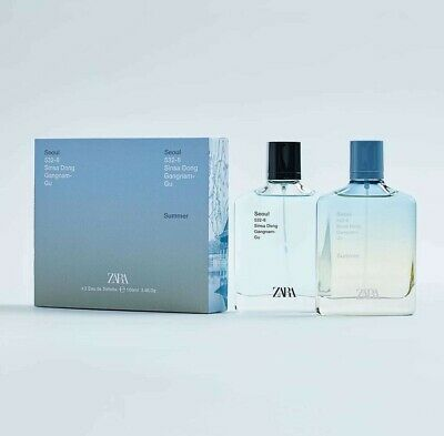 ZARA mens SEOUL + SEOUL Summer EDT perfume fragrance 2x 100ML!