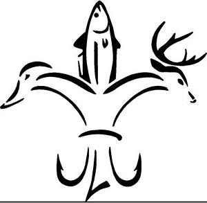 deer fish duck decal sticker wall art 5 x 5 ebay