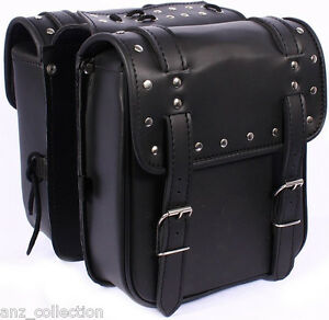 Motorcycle-Biker-Small-Saddle-bag-Sissy-Luggage-Cruiser-Panniers-Rack-Leather