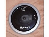 ROLAND V Drums CY-15R SV Electronic 3 zone Ride Cymbal Pad V DRUMS SILVER 15 inch 2 avialable