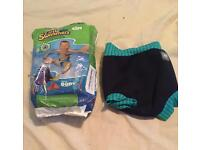 Swim shorts and nappies