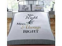 MR RIGHT & MRS ALWAYS RIGHT DUVET SET