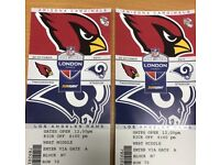 2 tickets LA Rams vs Arizona Cardinals NFL @ Twickenham 22 October