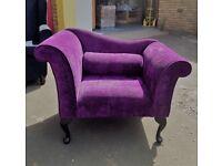 Purple Chaise Chair
